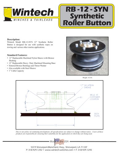 RB-12-SYN Synthetic Roller Button