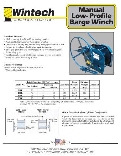 Standard Upright Barge Winch