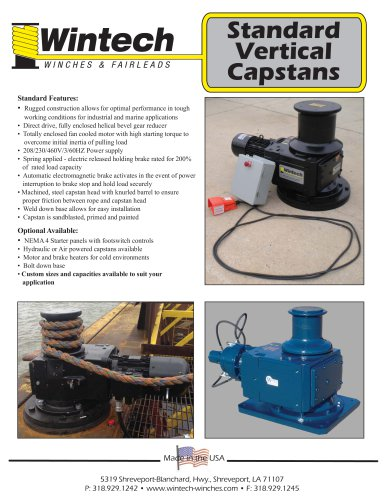Standard Vertical Capstans Product