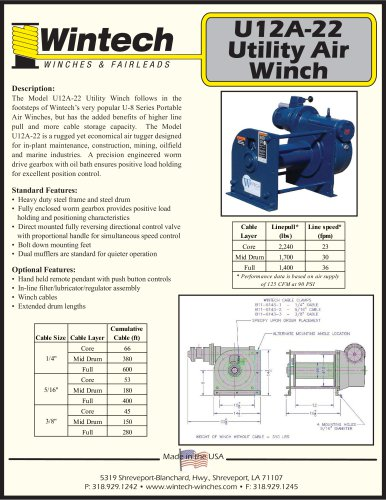 U12A-22 Air Winch