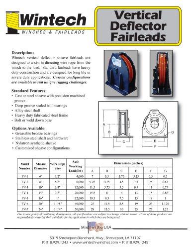 Vertical Deflector Fairleads
