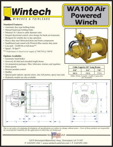 WA-100 Air Winch
