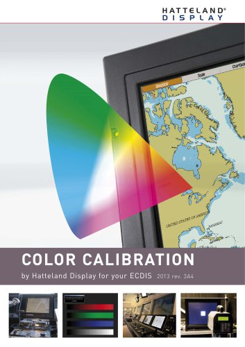 Color Calibration by Hatteland Display for Your ECDIS