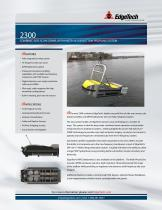 2300 COMBINED SIDE SCAN SONAR, BATHYMETRY & SUB-BOTTOM PROFILING SYSTEM - 1