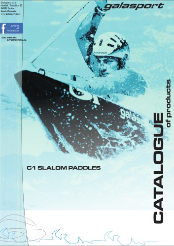 C1 slalom paddles catalogue