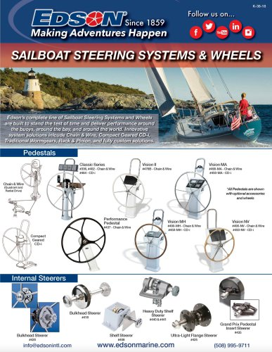 sailboat sterring systems & wheels