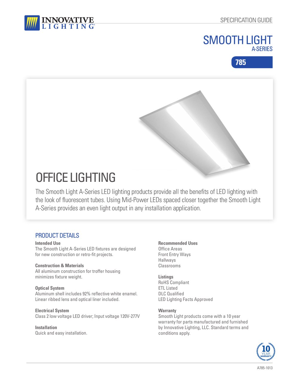 Sl A Series 785 Innovative Lighting Corp Pdf Catalogues Led Office Fixture Wiring Diagram 1 2 Pages