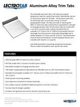 Aluminum Alloy Trim Tabs