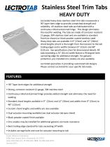 Heavy Duty Stainless Steel Trim Tabs