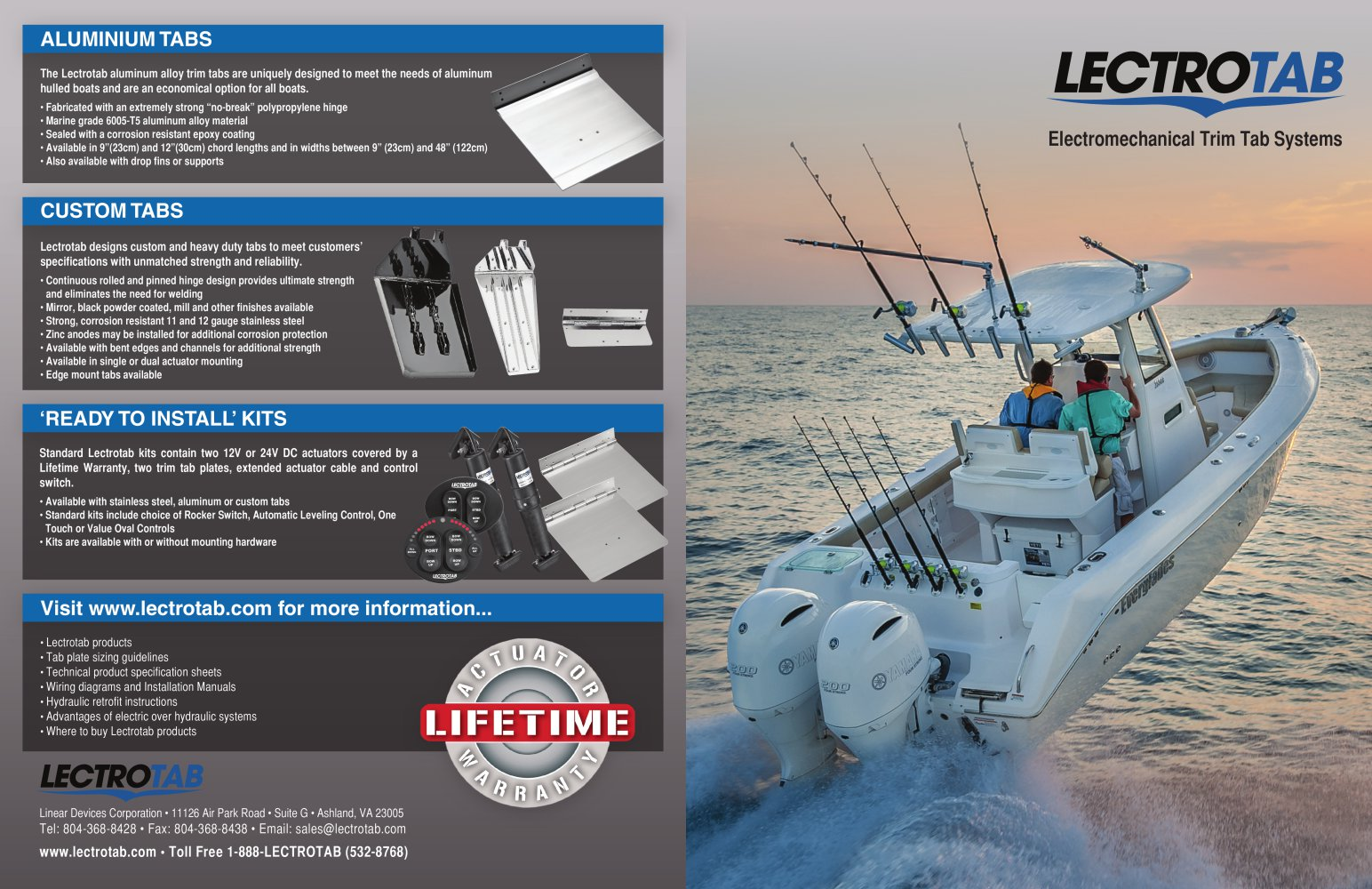Lectrotab Brochure 2014 Pdf Catalogues Documentation Boat Trim Tabs Wiring Diagram 1 2 Pages