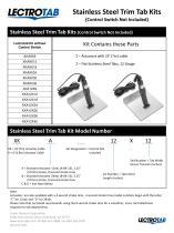 Standard Stainless Steel Trim Tab Kits
