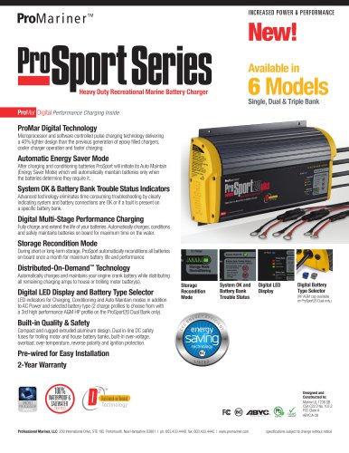 ProSport Gen 3 Sell Sheet