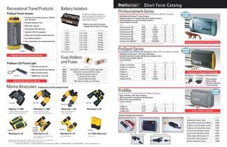 Short Form Catalog
