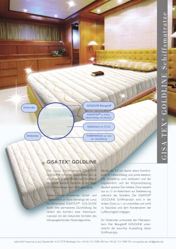 Luxury ship mattress for yacht