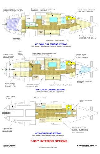 F 39 ACCOMODATION LAYOUT
