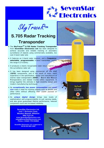 S.705 Radar Tracking Transponder