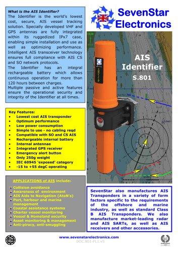S.801 AIS Identifier Data Sheet
