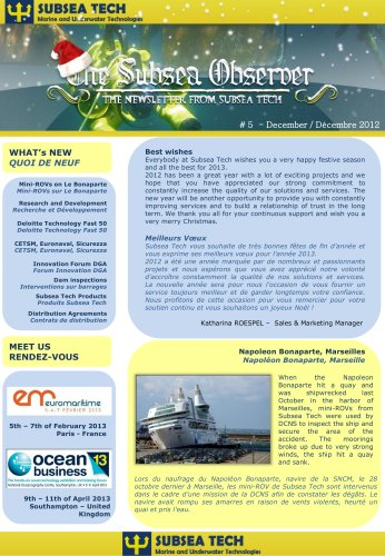 "Newsletter ""Subsea Observer"""