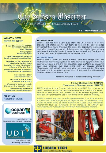 "Newsletter ""Subsea Observer"" #6"