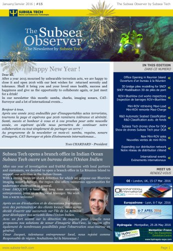 The Subsea Observer #15 - The Newsletter from Subsea Tech