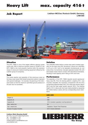 Job Report : Heavy lift PDF