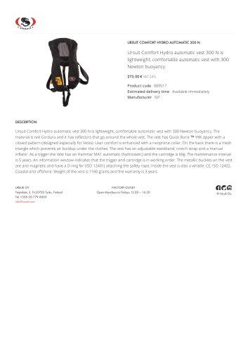 URSUIT COMFORT HYDRO AUTOMATIC 300 N