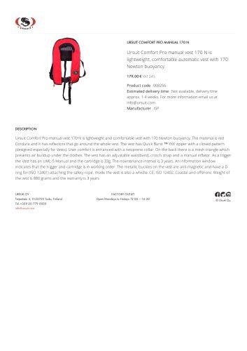 URSUIT COMFORT PRO MANUAL 170 N