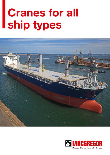 Cranes for all ship types