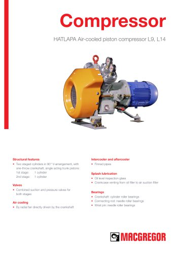 HATLAPA Air-cooled piston compressor L9, L14