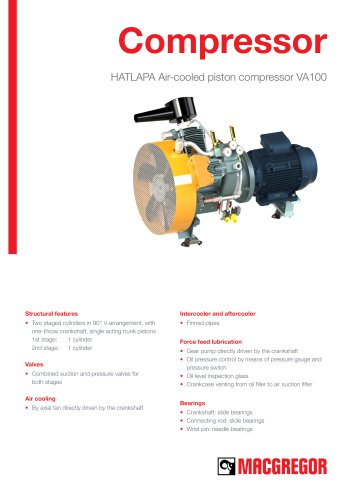 HATLAPA Air-cooled piston compressor VA100