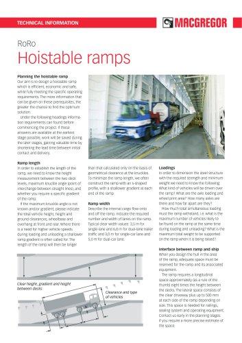 Hoistable ramps