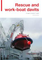 Rescue and work-boat davits