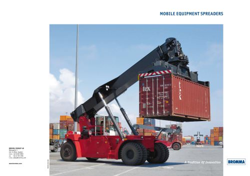 Mobile equipment spreaders