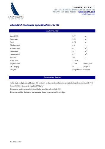 Standard technical specification LH 33