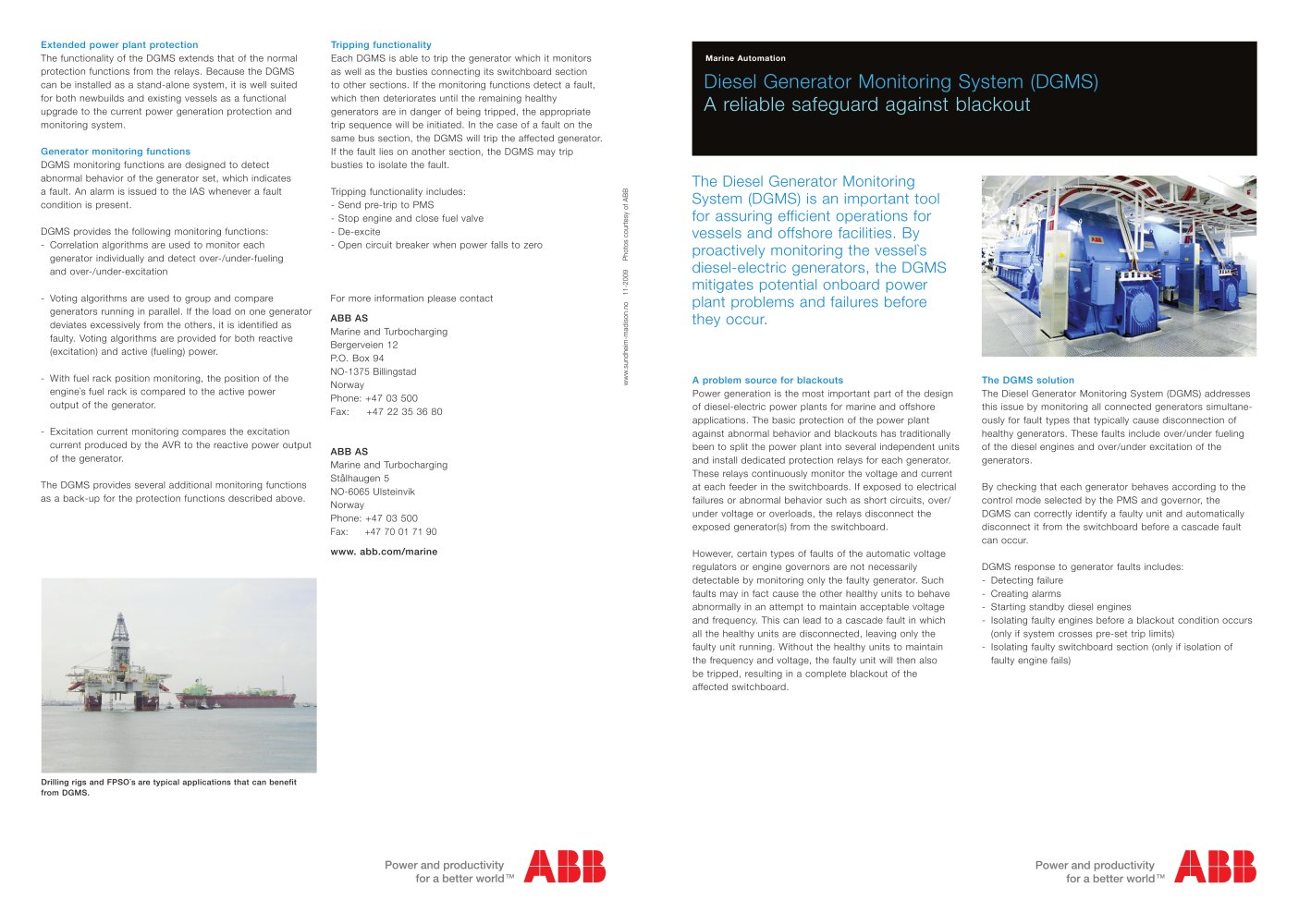 Dgms Brochure Final Abb Marine Pdf Catalogues Documentation Under Current Relay 1 2 Pages