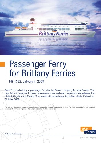 Passenger ferry for Brittany Ferries