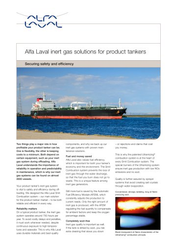 Alfa Laval inert gas solutions for product tankers