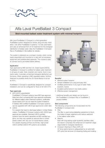 Alfa Laval PureBallast 3 Compact