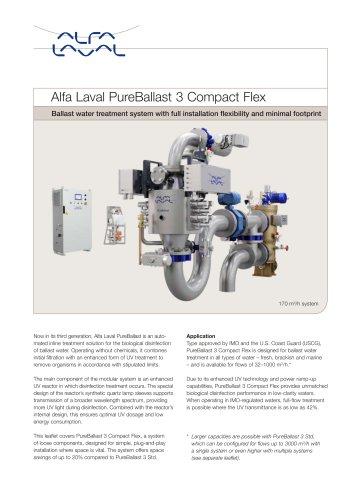 Alfa Laval PureBallast 3 Compact Flex