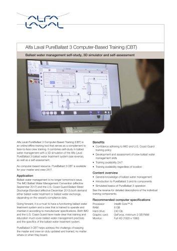 Alfa Laval PureBallast 3 Computer-Based Training (CBT)