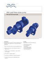 Alfa Laval three-screw pump