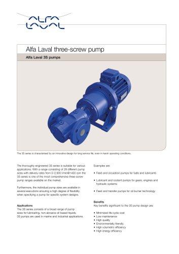 Alfa Laval three-screw pump 38 pump