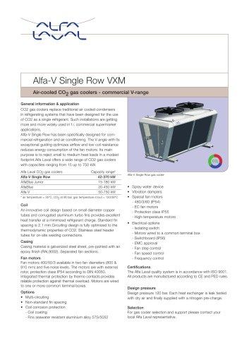 Alfa-v-single-row-vxm