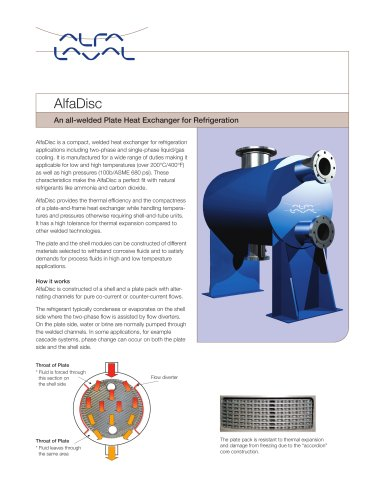 AlfaDisc for refrigeration applications