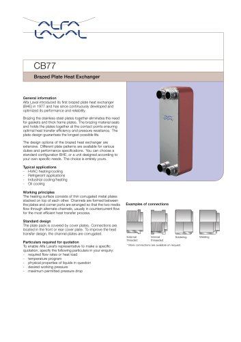 CB77 Brazed Plate Heat Exchanger