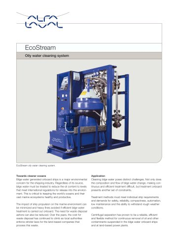 EcoStream Oily water cleaning system