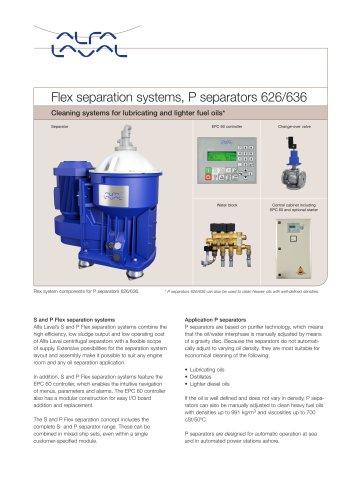 Flex separation systems, P separators 626/636