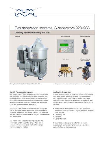 Flex separation systems, S-separators 928–988