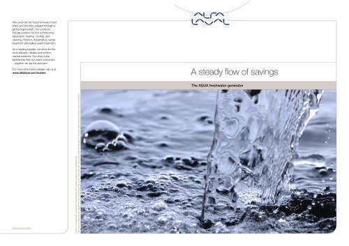 Freshwater Generator Aqua Brochure