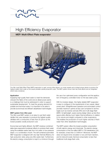 High Efficiency Evaporator